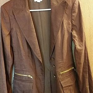 NWOT CACHE BROWN JACKET